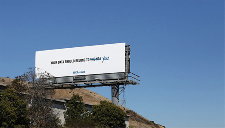 Las vallas publicitarias de BitTorrent contra la NSA, la imagen de la semana