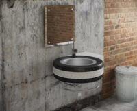 Recicladecoración: un lavabo hecho con un neumático