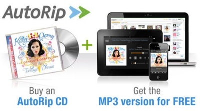 Amazon lanza AutoRip: compra un CD físico y obtén los MP3 inmediatamente en Cloud Player