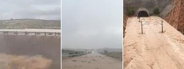 Pantanos desbordados y autovías anegadas: los estragos de la gota fría, explicados en 23 vídeos