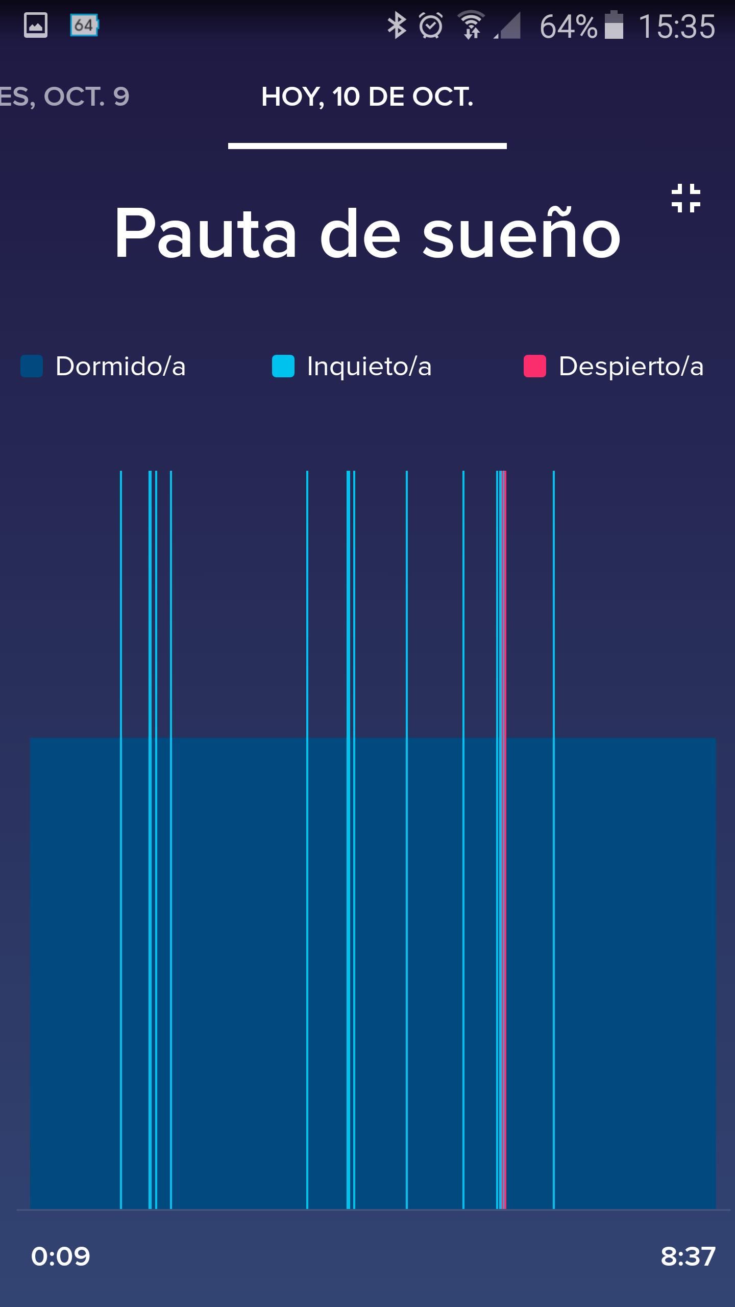 Foto de Aplicación Fitbit en smartphone (10/19)