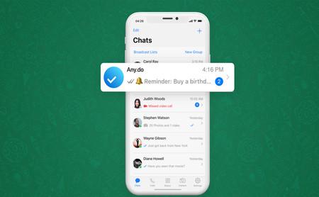Cómo añadir notas y recordatorios a WhatsApp gracias a la integración con Any.do