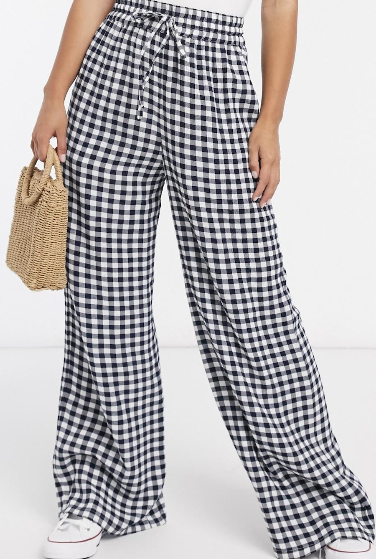 Pantalones de Vichy con textura de ASOS DESIGN