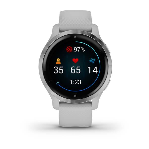 "Garmin Venu 2S Gris - 1.2"" AMOLED, 40mm, Garmin Pay, Sensores ABC, GPS, ANT+BT+WiFi"