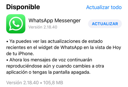 Update De Whatsapp