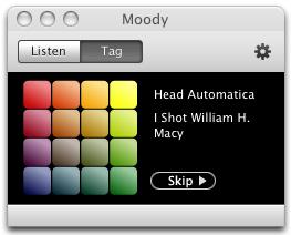 Moody: Clasifica tus canciones por colores