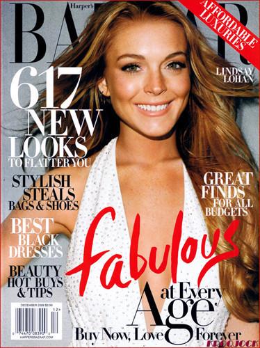 Lindsay Lohan en Harper's Bazaar