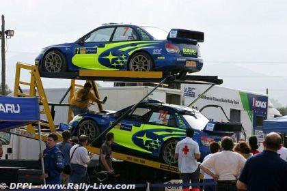 Bajando los Subaru