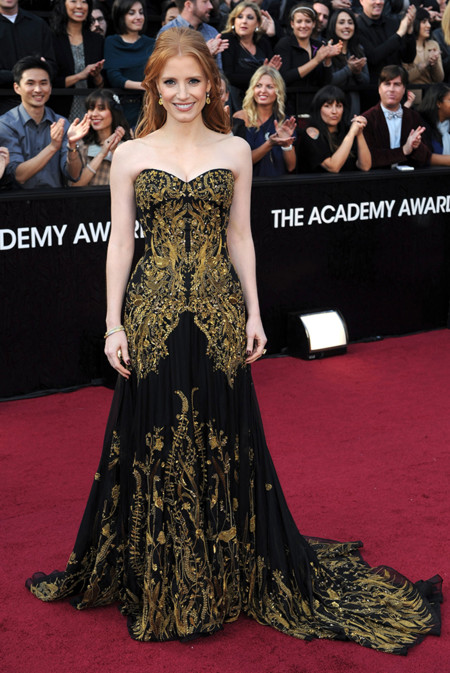 Jessica Chastain de Alexander McQueen