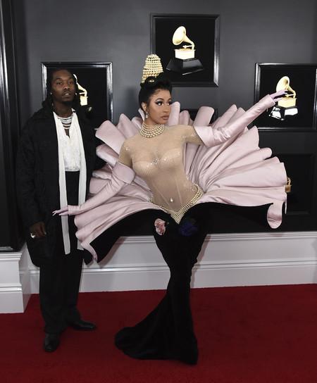 Cardi B se convierte en la protagonista absoluta de los Premios Grammy 2019 con un ¿original? vestido vintage