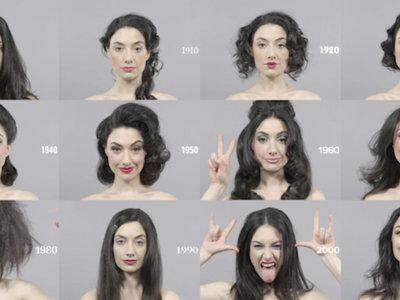 100 años de maquillaje en menos de 1 minuto