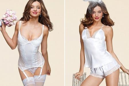 Los consejos sobre lencería para el día de tu boda déjaselos a Miranda Kerr