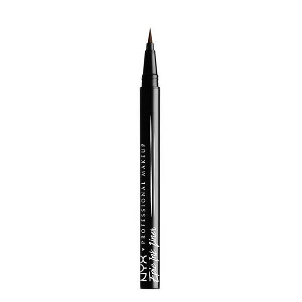 NYX Professional Makeup Delineador de ojos Epic Ink Liner, Punta de pincel, Resistente al agua, Fórmula vegana