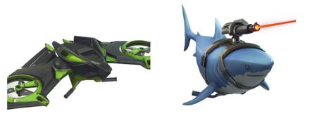 Tiburones con rayos láser: todas las skins, objetos y emotes que trae la actualización v5.1.0 de Fortnite