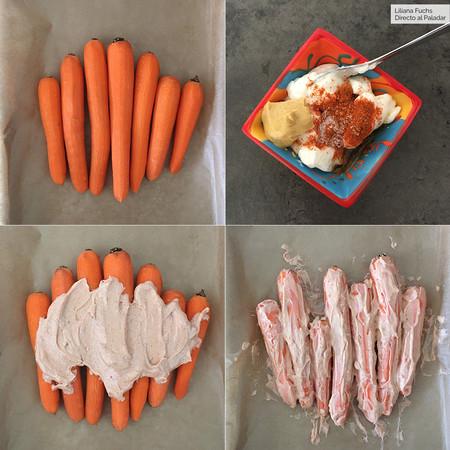 Zanahorias Tandoori Pasos