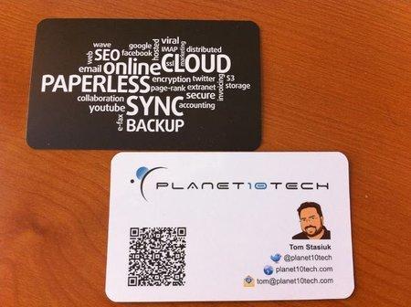 Incluir nuestros perfiles en las redes sociales en las tarjetas de visita