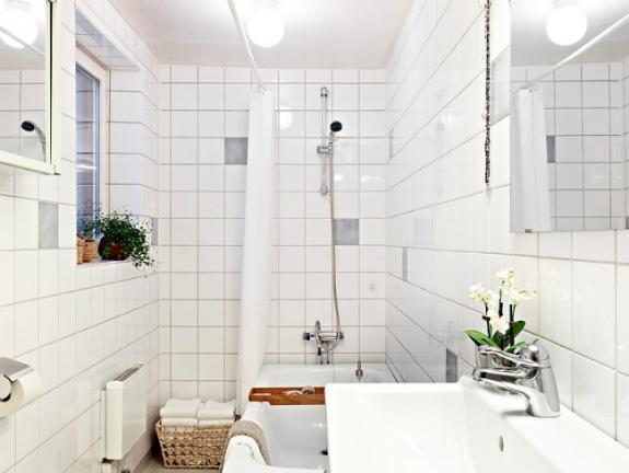 Un baño nórdico con bañera