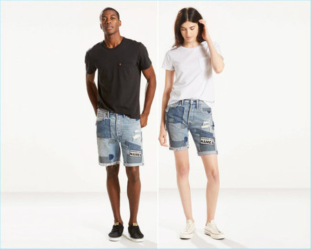 Levis 501 Ct Pride Denim Shorts