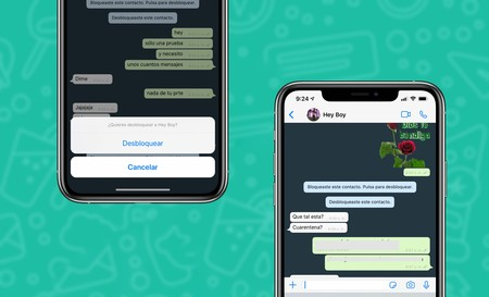 Mensajes WhatsApp bloqueo