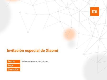 Xiaomi Evento Mexico 8 Noviembre