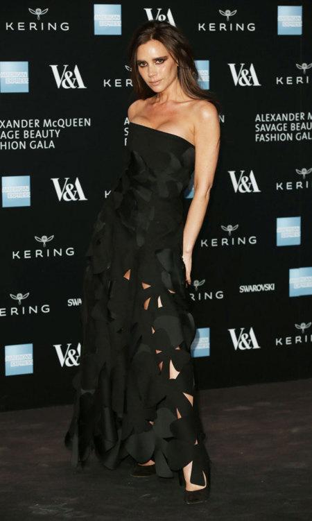 Victoria Beckham Perforado negro