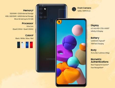 Nuevo Samsung Galaxy A21s Precio Caracteristicas Ficha Tecnica