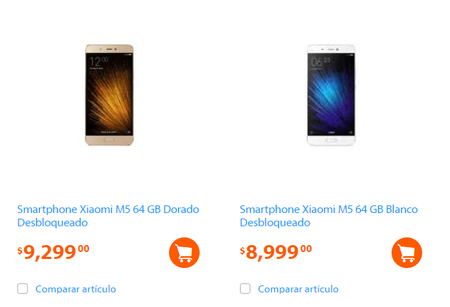 Xiaomi Mi 5 Walmart Mexico Precio