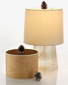 Las ideas más económicas: una lámpara de invierno con una piña