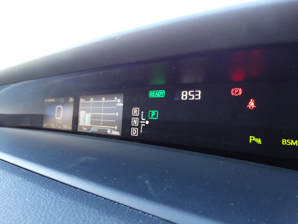 Foto de Prueba Toyota Prius 2016 interiores (18/39)