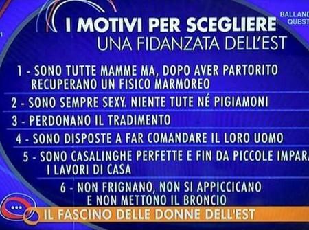 Mujeres Este Vs Italianas