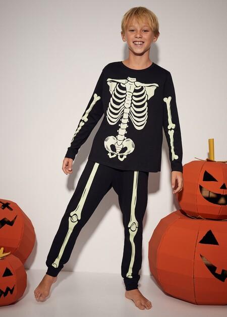 Pack pijama algodón orgánico esqueleto