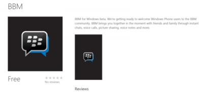 Blackberry Messenger ya está en Windows Phone, aunque en beta privada