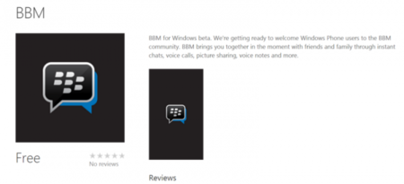 Blackberry Messenger ya está en Windows Phone, aunque en beta privada