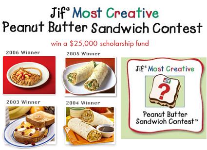 Concurso de sándwich de crema de cacahuetes para niños