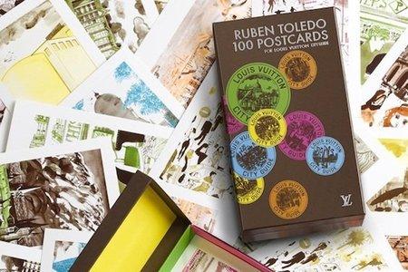 Postales de viajes de Louis Vuitton diseñadas por Rubén Toledo