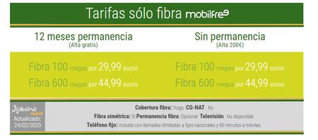 Nuevas Tarifas De Solo Fibra Mobilfree En Marzo De 2020