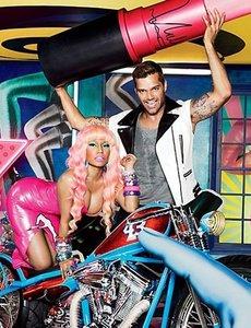 La primera foto de Viva Glam de MAC, con Ricky Martin y Nicki Minaj