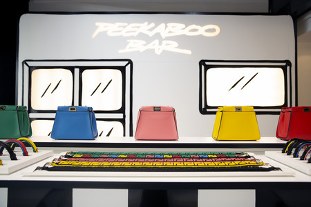 Fendi Cafe Caffe Peekaboo Bar Custom Bag London Harrods 4