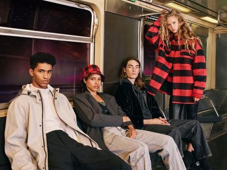 Pull & Bear o cómo vestir los días de otoño con prendas de tejidos extraños (se llevan los looks reflectantes)
