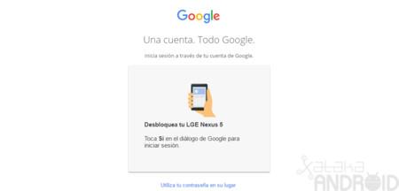 Así puedes usar tu móvil para iniciar sesión en Google