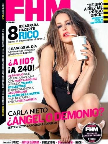 Carla Nieto en FHM: con demonios así me parece que vamos todos al infierno