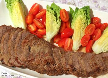 Asado de ternera. Receta de carne al horno con salsa