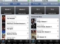 Imágenes de la interfaz para comprar películas y series desde el iPhone