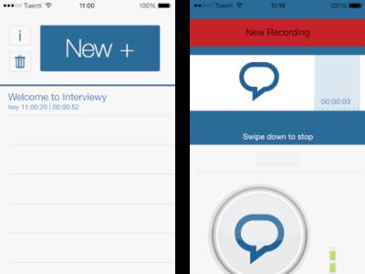 Interviewy: graba entrevistas o clases desde iOS con marcadores y sincronización de audio en iCloud