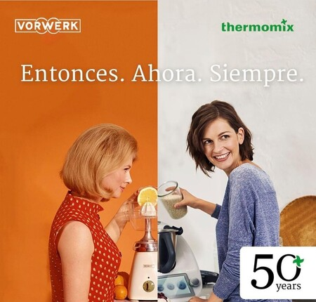 Thermomix celebra su 50 aniversario recreando en la portada de su revista la misma publicidad sexista, pero medio siglo después