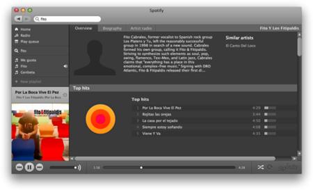 Música gratis al instante con Spotify