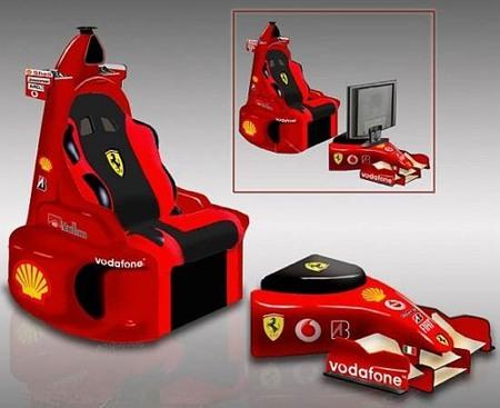 La silla de descanso Ferrari F1