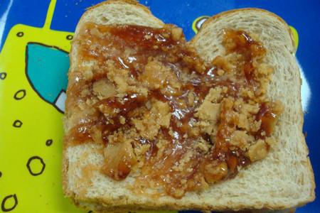 Sándwich de mantequilla de cacahuete y mermelada