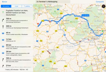 Mapa Nurburgring