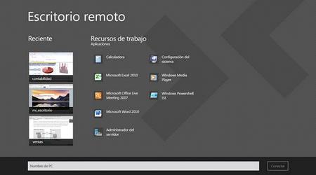 Conectarse a un equipo a través de Escritorio Remoto en Windows 8